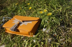 Yellow Hand Bag on Grass